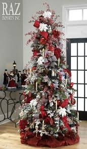Paint It Red Slim Christmas Tree Decorating Ideas
