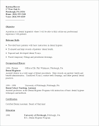 Dental Hygienist Resume Examples Example Luxury