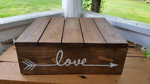 Rustic Cake Stand Custom Wedding Box Wooden Country Fall