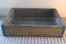 Vintage Wooden Coca Cola Yellow Open Crate 18x12x5
