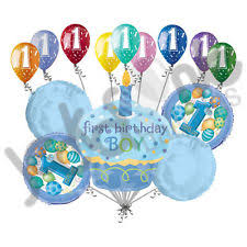 14 pc 1st Happy Birthday Cupcake Balloon Bouquet Party Decoration Baby e 1 Boy