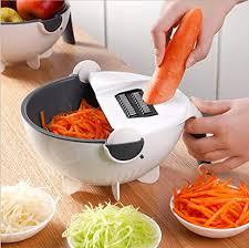 9 in 1 multifunktions schneidegerät mandolinenschneider gemüse kartoffelhobel haushalt rettich küche artefakt drehbarer abflusskorb