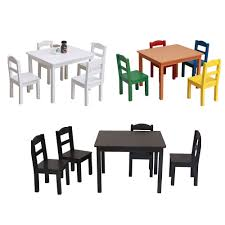 Details About 5 Piece Kids Set Glass Wood Table 4 Chairs Kitchen Dining  Room Furniture 3 Color Piece Ding Set Light Chairs Red And Table Wicker Rooms Cream Upholstered Padded Kitchen With Amazoncom Solid Oak Room Of 2 Sturdy 7 Woodespresso Fniture What Is The Best Place To Buy Cheap But Sturdy Fniture Wooden Kids And Eertainment Chairs White Mcmola Case 50kitchen Side Better Homes Gardens Maddox Crossing Chair Brown Details About Of Wood Black Traditional Wing Back Ash Barley Velvet Fabric Parson Room Table 4 In Ch5 4wl Connahs Quay For