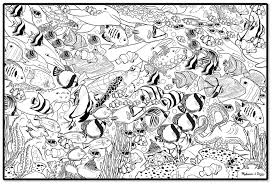 Sea Animal Coloring Pages For Adults 1
