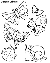 Garden Critters Coloring Page