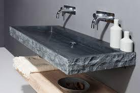 palermo naturstein waschtisch bossiert aus granit forzalaqua spa ambiente