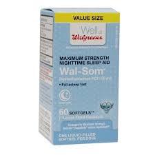 walgreens wal som sleep aid softgel walgreens