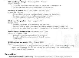 Landscaping Skills Resume