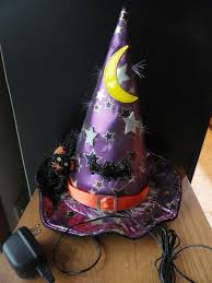 Avon Fiber Optic Halloween Decorations by Fiber Optic Purple Witch Hat Table Top Halloween Decoration 13
