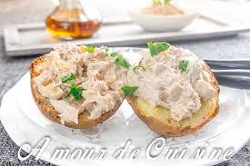 pomme de terre robe de chambre pomme de terre au four et rillettes de thon amour de cuisine