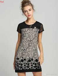 Korea S Xxxl Work Dresses For Women Wear 2015 Summer Short Sleeve Printed Plus Size Dress Vintage Casual Patchwork Ladies Office 19511 Long Black