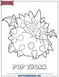Skylanders Swap Force Air Pop Thorn Coloring Page
