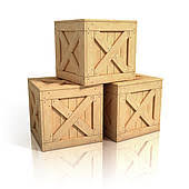 Drawing Of Wooden Crates Isolated K14158943