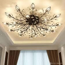 großhandel moderne nordische k9 kristall led deckenleuchten leuchte gold schwarz home len für wohnzimmer schlafzimmer küche badezimmer