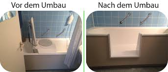 umbau badewanne als dusche mittels wanneinstieg sicheres