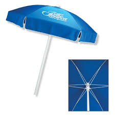 Promotional In Stock Polyester Patio Cafe Umbrella With Fiberglass Ribs