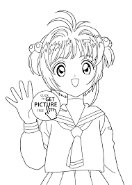 Anime Girl Coloring Pages For Kids 1