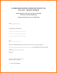 Letter Landlord To Tenant