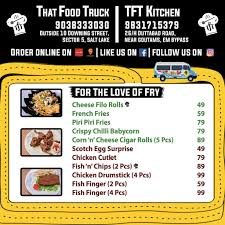 TFT - That Food Truck Menu, Menu For TFT - That Food Truck, Sector 5 ...