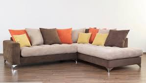 canapé marron canapé d angle à droite maxi corfu marron beige orange jaune