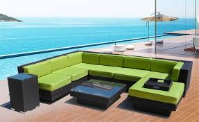 Outdoor Sectional Sofa With Chaise by Sofa Set Patio Furniture U0026 2 Canopy Chaise
