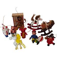 Christmas Tree Shop Waterford Ct by 9 Wooden Animal Circus Christmas Tree Ornaments From