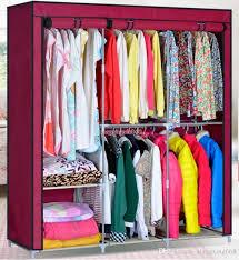 2018 63 Steel Portable Wardrobe Home Clothes Rack Shelves Closet