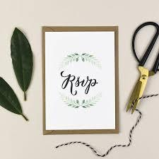 Green Vine Wedding Invitation
