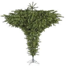 Artificial Pre Lit Douglas Fir Christmas Tree by Amazon Com Vickerman 75 U0027 Upside Down Artificial Christmas Tree
