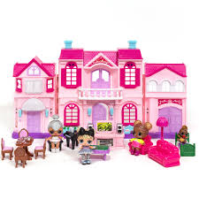 Amazoncom HeroStore Music LED Light Miniature Doll House Provence