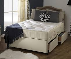 Amazon Uk King Size Headboards by Happy Beds Royale Firm Divan Bed Set Cream Damask Orthopaedic