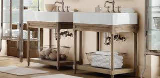 Restoration Hardware Bathroom Vanity Single Sink by Weathered Oak Washstand Bath Collection Weathered Oak Rh