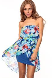 water color orchid strapless tulip dress cicihot dresses