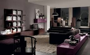 Grey And Purple Living Room by Astounding Modern Brown And Black Living Room Decoration Using