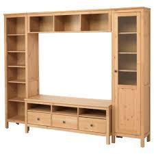 hemnes tv storage combination light brown living room media cm