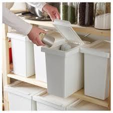 küchen abfalleimer tonne mit deckel weiß ikea filur 28 l