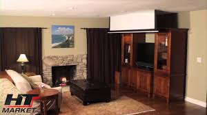 projector screen by elite in ceiling electric home theater