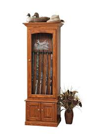 Wooden Gun Cabinet With Etched Glass by 6 Gun Cabinet With Etched Glass
