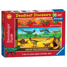Melissa And Doug Dinosaur Floor Puzzles by Ravensburger Deadliest Dinosaurs Giant 60pc Floor Puzzle 9 00