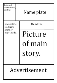 Tabloid Layout Template Paper Design Best Photos Of Newspaper Format