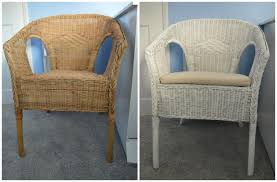 60 minute makeover Spray Painting our Nursery Wicker Chair WELL