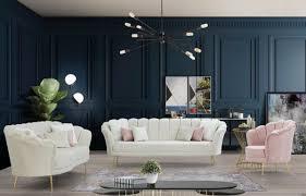 casa padrino designer deco wohnzimmer set creme rosa gold 2 sofas 2 sessel wohnzimmer möbel deco möbel