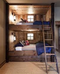 Rustic Bedroom At The Lake House Cabin