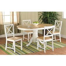 farmhouse dining table white natural walmart com