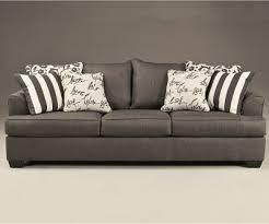 Milari Linen Queen Sofa Sleeper by Charcoal Pull Out Queen Sofa Sleeper By Ashley