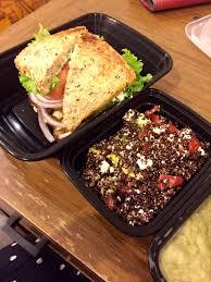 delivery club sandwich with crispy quinoa salad yelp