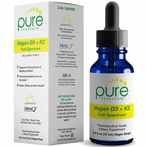 "Vegan D3 + K2""Full Spectrum Drops for Best Absorption 