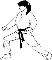 Detail Coluring Page Of Karate Girl