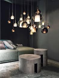 große hängeleuchte modernes design wohnzimmer moderne