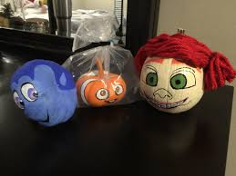 Halloween Faces For Pumpkins Painted by Painted Pumpkins Darla Nemo And Dory Painted Pinterest